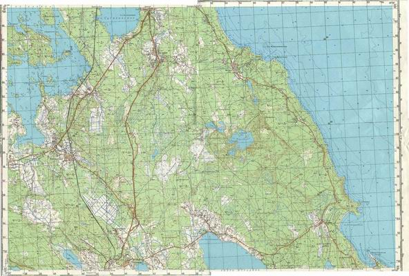 Карта генштаба карельского перешейка